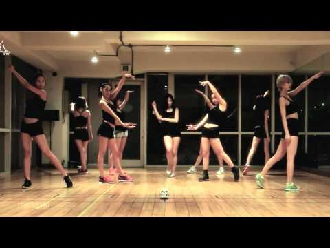 Nine Muses 'WILD' mirrored Dance Practice