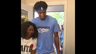 Thunder players, local organization surprise woman with renovated home