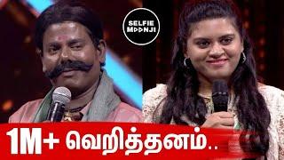 வெறித்தனமான காதல் பாடலில் Super Singer 7 Murugan Vs Punya Performance At Big Battle Round