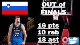 TWITTER REACTS to SLOVENIA LUKA DONCIC losing to FRANCE with a TRIPLE DOUBLE @TOKYO2020 SEMIFINALS