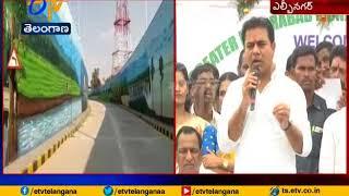 KTR inaugurates Hyd's New Underpass Road at LB Nagar..