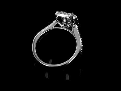 Browns Family Jewellers Diamond Cluster Engagement Ring
