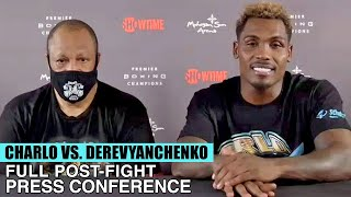 JERMALL CHARLO'S FULL POST FIGHT PRESS CONFERENCE VS SERGIY DEREVYANCHENKO (FULL POST FIGHT VIDEO)