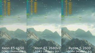 Тест Xeon E5 1650 x E5 2680v2(HToff) x Ryzen 5 2600