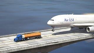 "Massive Airplane ""Miracle Emergency Landing"" at Bridge (GTA 5 Funny Moments)"
