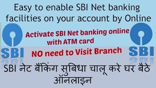 How to activate sbi net banking from debit card?