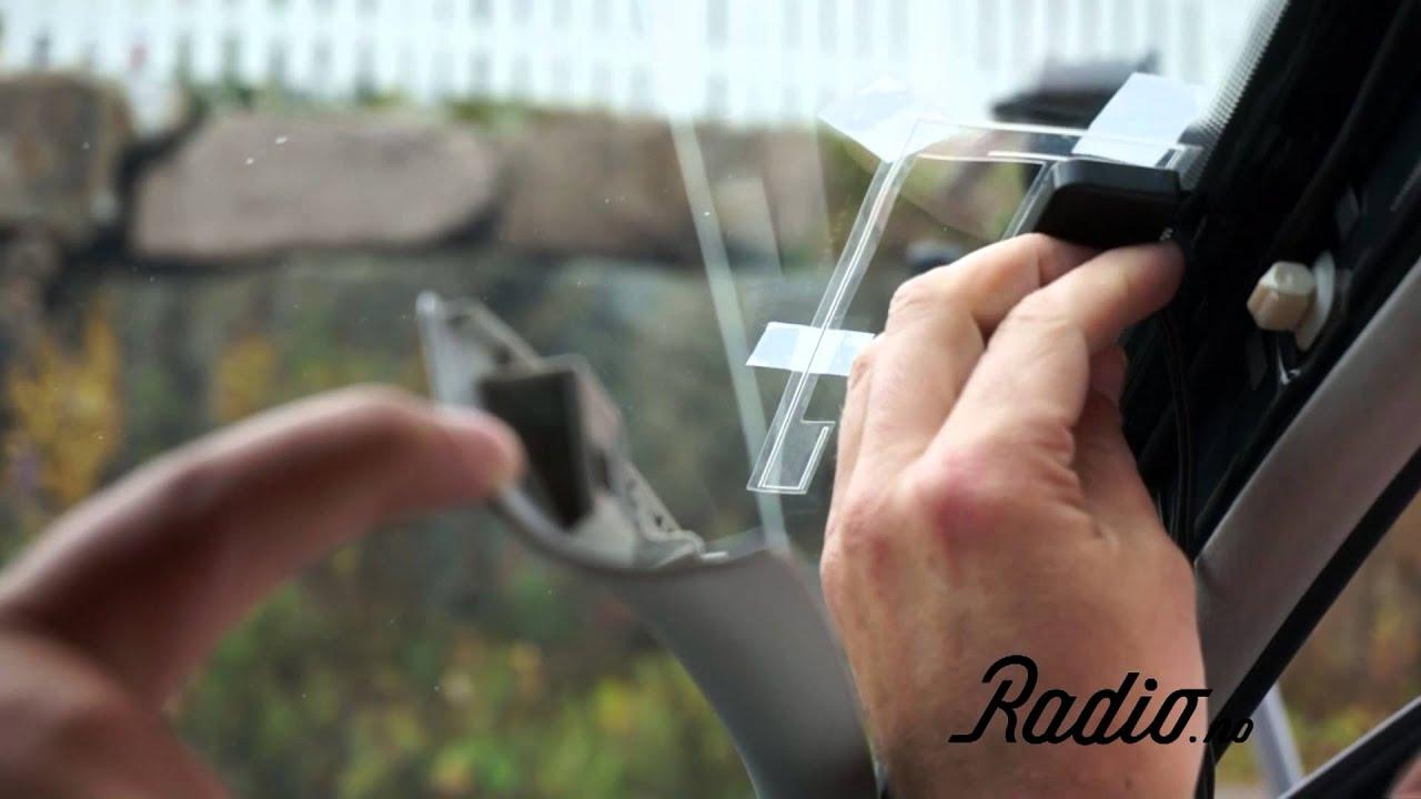 montering av dab adapter antenne i bilens frontrute youtube. Black Bedroom Furniture Sets. Home Design Ideas