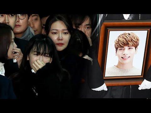 고 샤이니 종현, 눈물의 발인…하늘의 별로 / 연합뉴스TV (YonhapnewsTV)