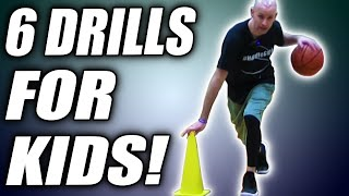 6 BEST Dribbling Drills For Kids! Basketball Drills For Beginners