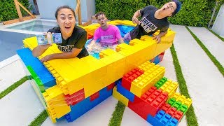 LAST TO LEAVE LEGO HOT TUB WINS $10K!!
