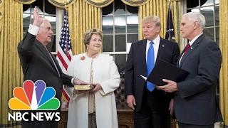 Rex Tillerson Sworn In As Secretary Of State   NBC News