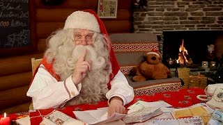 Santa Claus video message to children from Lapland Finland - Rovaniemi Father Christmas