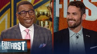 Kevin Love talks LeBron James, Ty Lue and mental health | NBA | FIRST THINGS FIRST