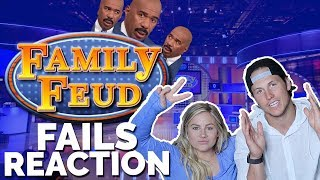 FAMILY FEUD FAILS REACTION   Shawn + Andrew