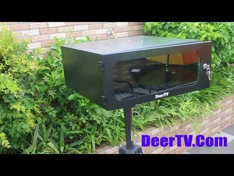 how to diy outdoor projector cabinet enclosure, weatherproof projector case box?