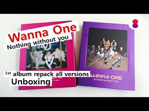 Wanna one 1-1=0 repackage unboxing 워너원 리패키지 ワナワン