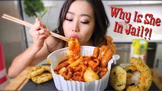 The Best SPICY KOREAN RICE CAKES (Tteokbokki) MUKBANG | Eating Show