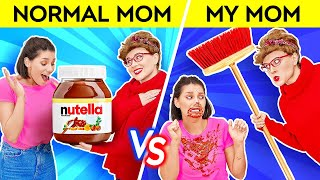 YOU'RE DOING BETTER THAN MOM THINKS    Normal Mom VS My Mom Funny Memes and Pranks by 123 GO! SCHOOL