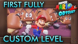 The First Fully Custom Level in Super Mario Odyssey