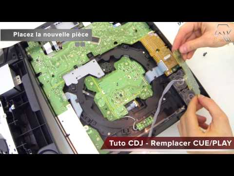 Tuto Pioneer CDJ 2000 - Remplacer Changer bouton Cue / Play