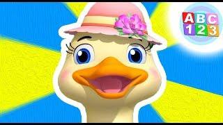 5 Little Ducks Pt 1| Nursery Rhyme For Babies | Learn With ABC 123
