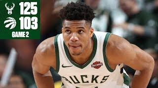 Giannis Antetokounmpo's 30-points leads Bucks to blowout vs. Raptors | 2019 NBA Playoff Highlights