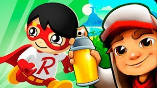 Subway Surfers NINJA vs RYAN TOYSREVIEW Tag with Ryan Gameplay FHD (Android/iOS)