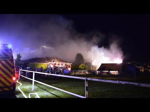 Großbrand in Pulheimer Gärtnerei