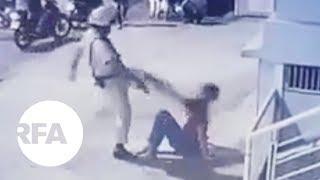 CSGT dí súng, đạp vào mặt người bị tai nạn