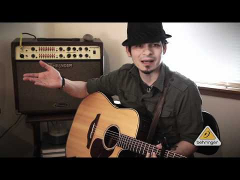 BEHRINGER Artist Thomas Starks and his BEHRINGER ULTRACOUSTIC ACX1800!