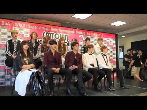 SNSD reaction to EXO's english