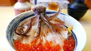 Nhật Bản mon ăn đường phố - khiêu vũ mực ống sashimi hải sản