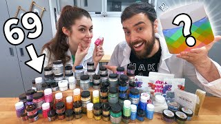 Mixing ALL our Pigments into RESIN