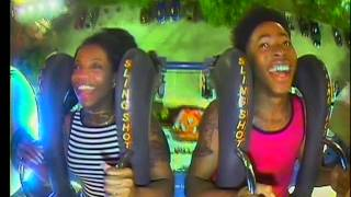 De'arra and Ken Ride the Tallest Slingshot in the WORLD