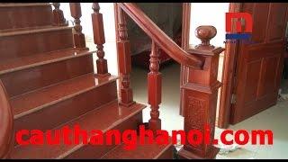 Cầu thang gỗ thi công và lắp đặt tại Quận Hoàng Mai Hà Nội