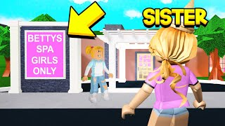 My Sister Went To A GIRLS ONLY SPA.. But The Owner KIDNAPPED Her.. (Roblox)