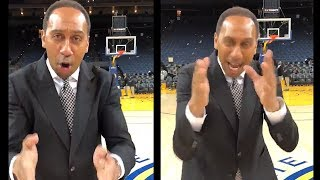 Stephen A. Smith Is HYPED After Rockets Win Game 4 vs Warriors