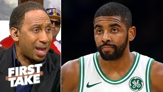 Kyrie is leaving the Celtics since he's being labeled a 'disruptive force' - Stephen A. | First Take