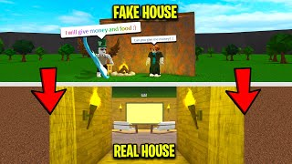 POOR EXPERIMENT IF YOU'RE NICE I SHOW YOU MY *SECRET* BASE! (Roblox)