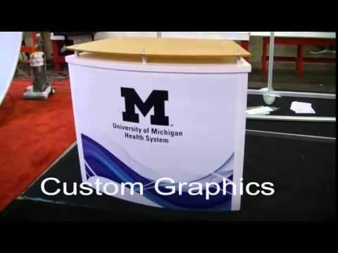 Custom Counters for Trade Shows Events and Retail Environments   YouTube