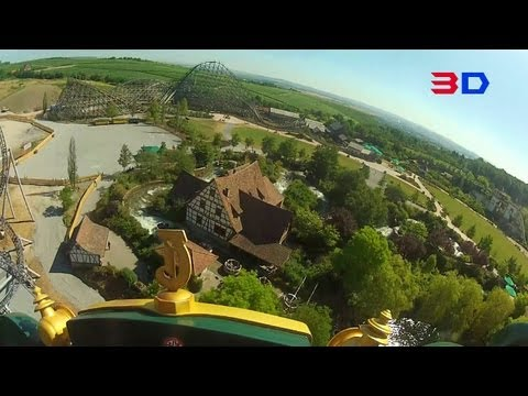 Karacho 3D front seat on-ride HD POV Erlebnispark Tripsdrill