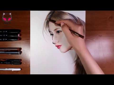 Drawing TWICE - SANA サナ 트와이스 - 사나 그림 그리기 [Mystic]