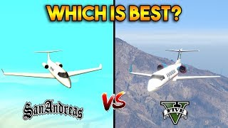 GTA 5 VS GTA SAN ANDREAS SHAMAL PLANE : WHICH IS BEST?