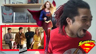 Supergirl / Flash Crossover Reaction!!