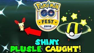 SHINY PLUSLE CAUGHT - POKEMON GO FEST 2018
