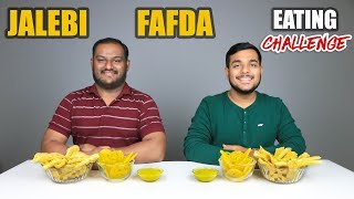 JALEBI & FAFDA EATING CHALLENGE | Jalebi And Fafda Eating Competition | Food Challenge