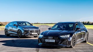 DRAG RACE!! AUDI RS6 C8 vs LAMBORGHINI URUS!