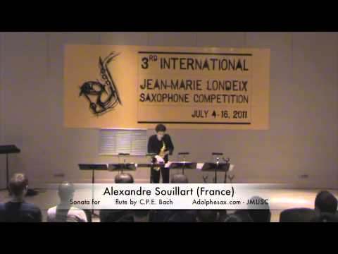 3rd JMLISC: Alexandre Souillart (France) Sonata for solo flute by C.P.E. Bach