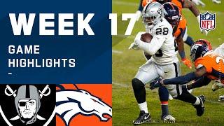 Raiders vs. Broncos Week 17 Highlights | NFL 2020