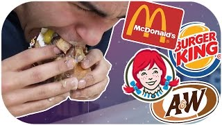 WHO HAS THE BEST FAST FOOD BURGER?! *DISGUSTING BURGER CHALLENGE*